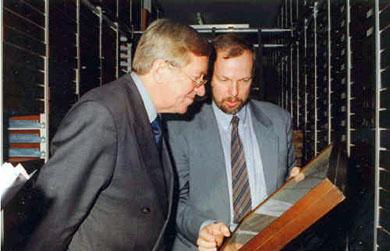 Minister Zehetmair and Axel Hausmann